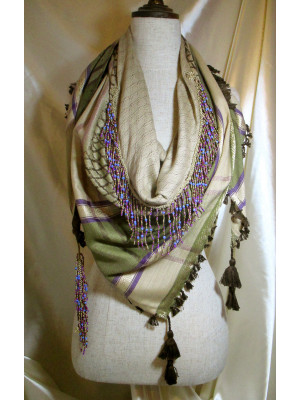Beaded Triangle Scarf